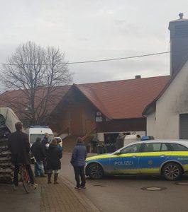 Polizei Straßensperre Bauer Lorenz
