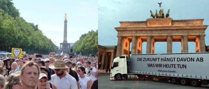 Historisches Ereignis in Berlin am 29.8.20